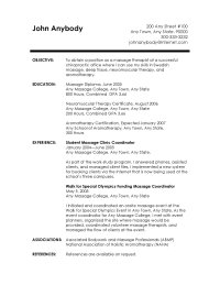 massage therapy resume objectives