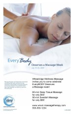Everybody Deserves a Massage Week poster